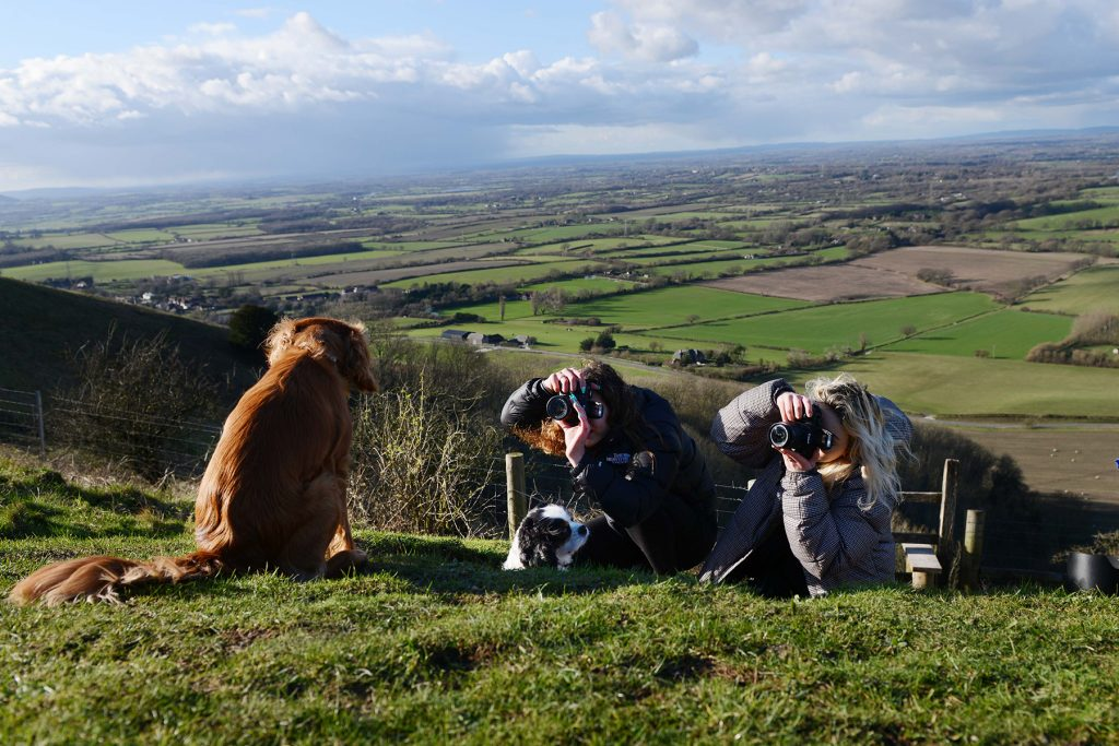 Dog Photo Shoot at Devil's Dyke, Devil's Dyke Shoot With The Work Experience Girls